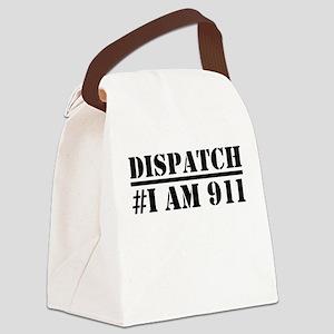 Dispatch I am 911 Emergency Canvas Lunch Bag