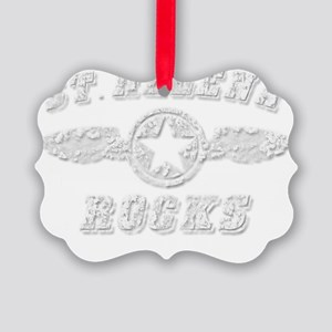 ST. HELENA ROCKS Picture Ornament