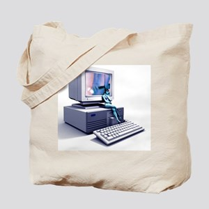 Computer pornography, computer artwork Tote Bag
