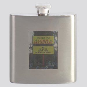 WICKED WOK - CHINESE RESTAURANT SIGN Flask
