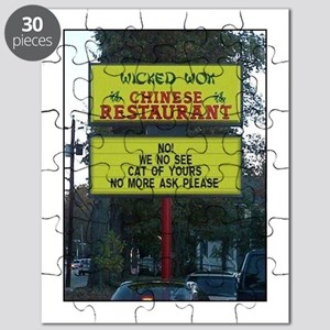 WICKED WOK - CHINESE RESTAURANT SIGN Puzzle