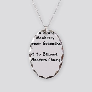 Caddyshack 2 Sided Necklace Oval Charm
