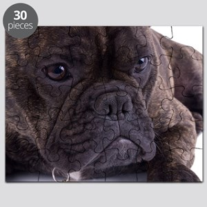 French bulldog - totally contented Puzzle
