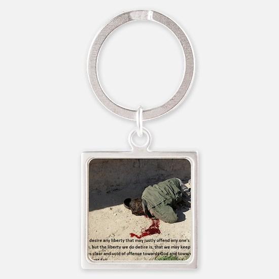 Fell on Afghan boy murder Square Keychain