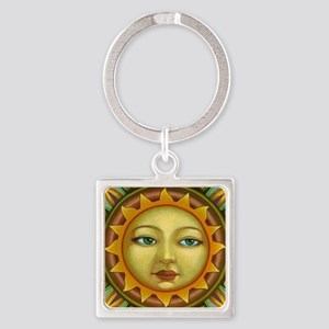 Sunface Square Keychain