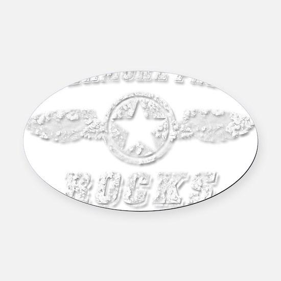 LIVERMORE FALLS ROCKS Oval Car Magnet