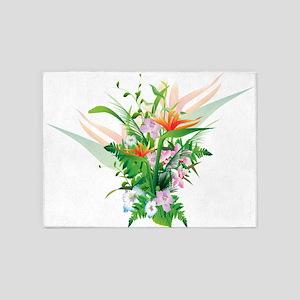 Beautiful Flowers 5'x7'Area Rug