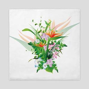 Beautiful Flowers Queen Duvet