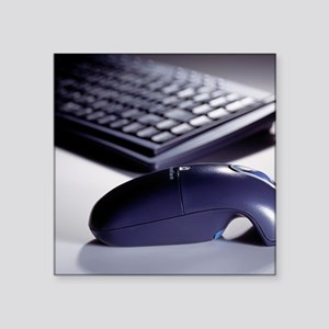 "Cordless mouse and keyboard Square Sticker 3"" x 3"""