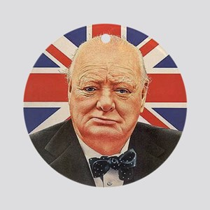 WINSTON CHURCHILL Round Ornament