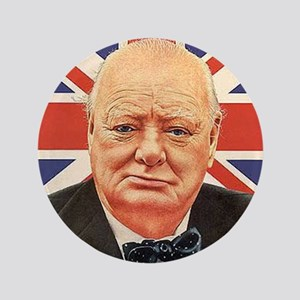 "WINSTON CHURCHILL 3.5"" Button"