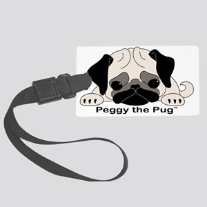 Peggy The Pug TM Large Luggage Tag