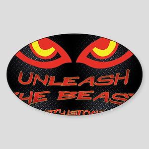 Unleash Wall Sticker (Oval)