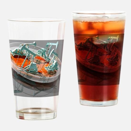 Creation of oil using designer micr Drinking Glass