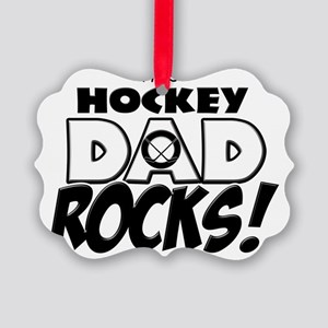 This Hockey Dad Rocks copy Picture Ornament