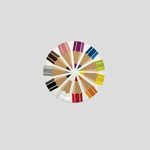 Colored Pencils Mini Button