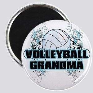 Volleyball Grandma (cross) Magnet