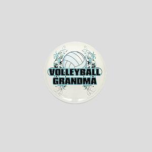 Volleyball Grandma (cross) Mini Button