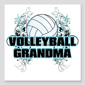 "Volleyball Grandma (cros Square Car Magnet 3"" x 3"""