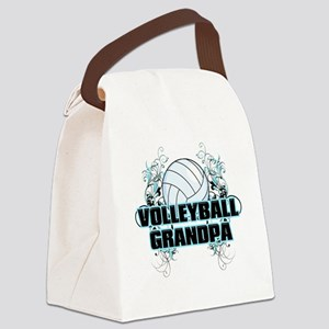 Volleyball Grandpa (cross) Canvas Lunch Bag