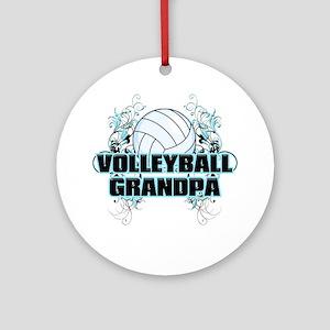 Volleyball Grandpa (cross) Round Ornament