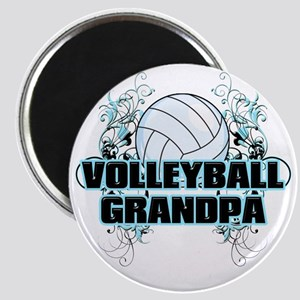 Volleyball Grandpa (cross) Magnet