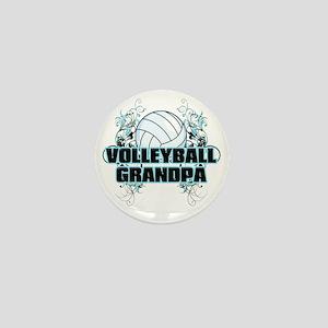 Volleyball Grandpa (cross) Mini Button