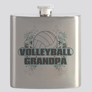 Volleyball Grandpa (cross) Flask