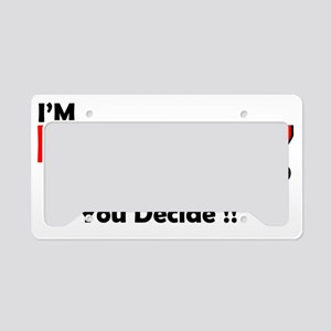 Naughty Or Nice License Plate Holder