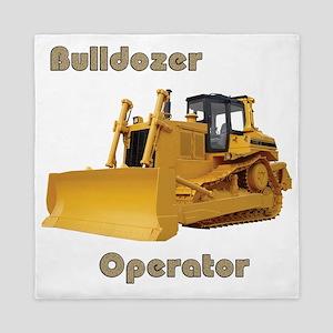 Bulldozer Operator Queen Duvet