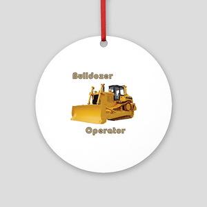 Bulldozer Operator Round Ornament