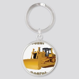 Bulldozer Operator Round Keychain