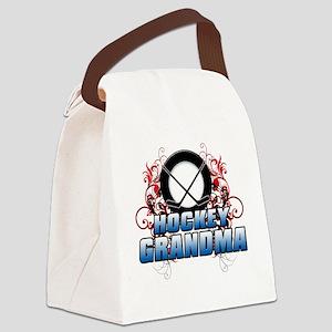 Hockey Grandma (cross) Canvas Lunch Bag