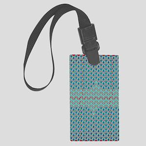 Geometrical Design Large Luggage Tag