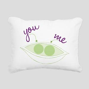 You And Me Rectangular Canvas Pillow