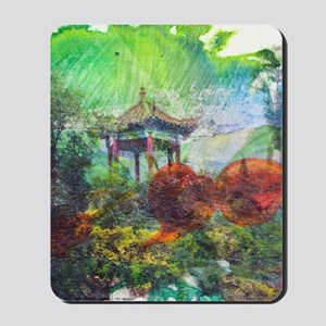 Lillies Collage Mousepad