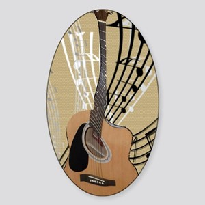 Abstract Guitar Sticker (Oval)