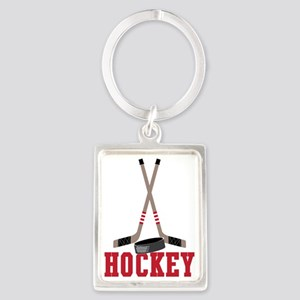 Hockey Portrait Keychain
