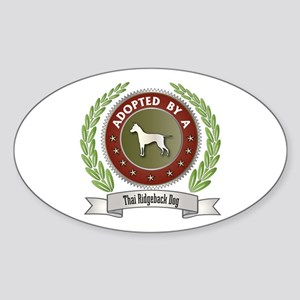 Ridgeback Adopted Oval Sticker