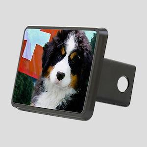 Swiss Bernese Puppy WIne L Rectangular Hitch Cover