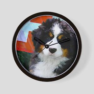 Swiss Berner Puppy clock Wall Clock