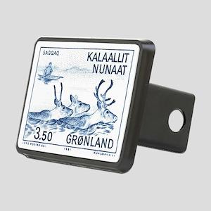 1981 Greenland Wild Reinde Rectangular Hitch Cover