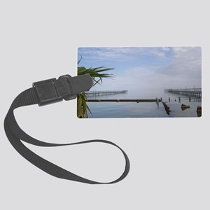 The Palm Tree Where the Ocean Me Large Luggage Tag