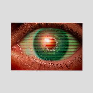 Cybernetic eye Rectangle Magnet