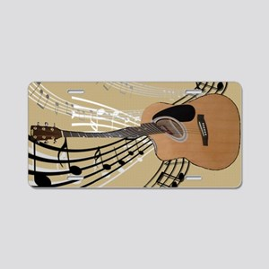 Abstract Guitar Aluminum License Plate