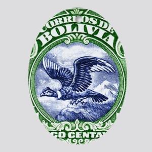 Bolivia 1928 Andean Condor Postage S Oval Ornament