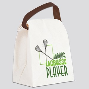 Indoor Lacrosse Player Canvas Lunch Bag
