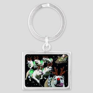 Reindeer Landscape Keychain