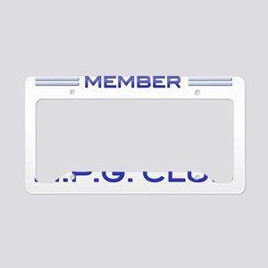 250+ MPG Club License Plate Holder