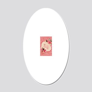 Happy Valentines Day to my l 20x12 Oval Wall Decal